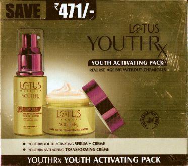 Lotus youthrx pack(serum+ moisturizer)